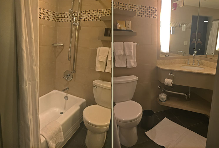 hotel em Boston banheiro