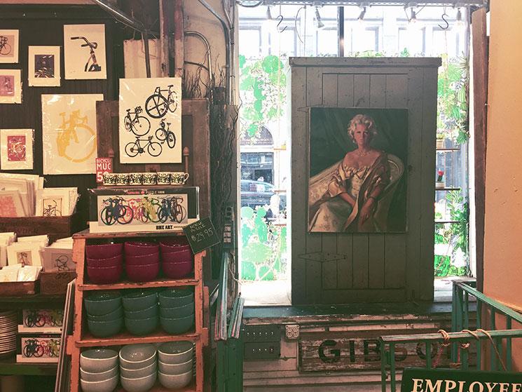 Interior da Fishs Eddy em New York