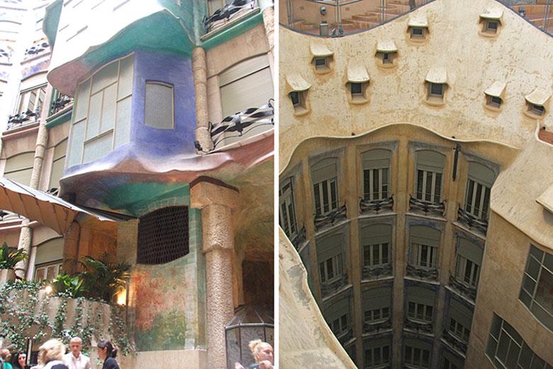 Pátios da Casa Milà ou La Pedrera