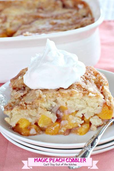 Magic Peach Cobbler - Can't Stay Out of the Kitchen