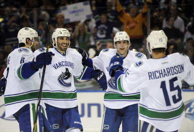 Brad Richardson , Christopher Tanev, Jason Garrison, Mike Santorelli
