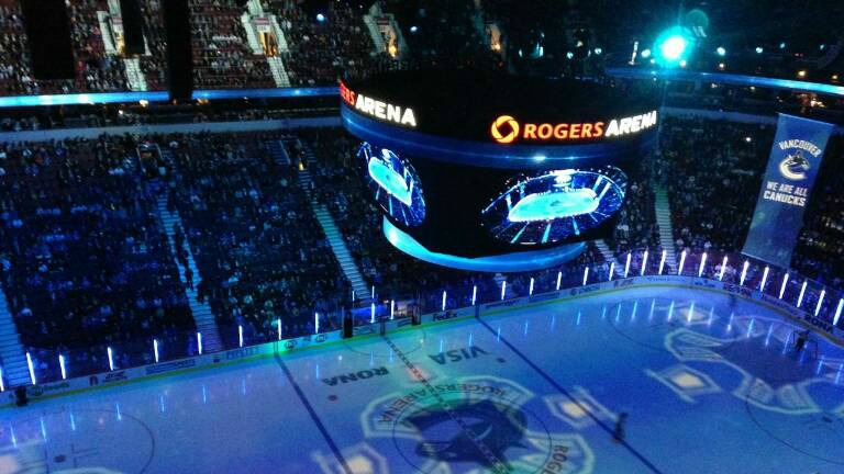 View from the 500 Level at Rogers Arena