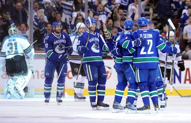 Vancouver Canucks vs. San Jose Sharks, Stanley Cup playoffs