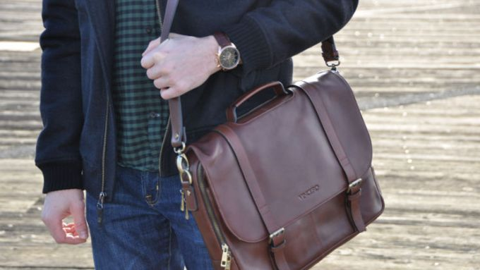 Vincero The Baron leather briefcase