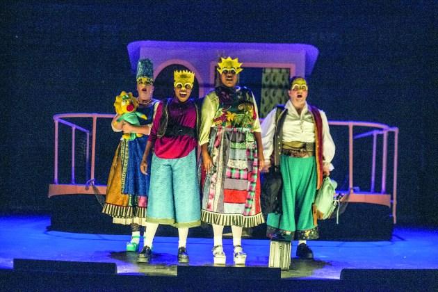 From left, Beth Wood, Nicole Sumlin, Abigail Anika Smigelj, Trey Gilpin PHOTO | Steve Wagner