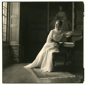 Ascherman's portrait of a woman in a wedding dress at a piano in Bratenahl. PHOTO | Herbert Ascherman Jr.
