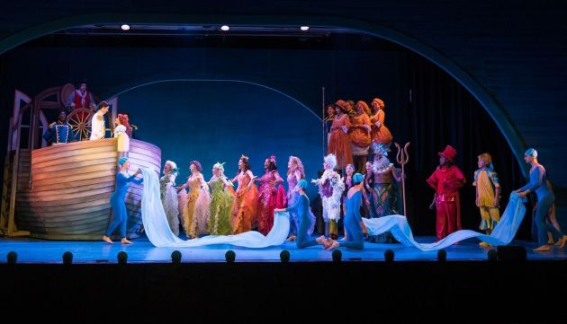 "The ensemble of Mercury Theatre's ""The Little Mermaid"". Photo 