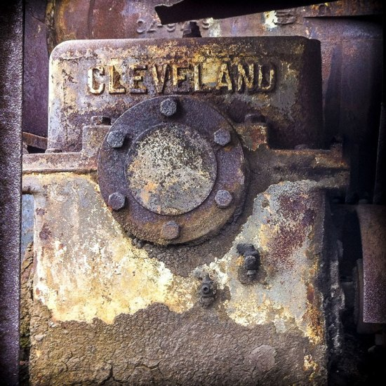 """Cleveland Train Car Detail"" by John Tellaisha (2012); archival inkjet prints, 30 x 30 inches; image courtesy of the artist. Tellaisha will be one of the artists in Bonfoey Gallery's upcoming ""Contemporaries 2017"" exhibition."