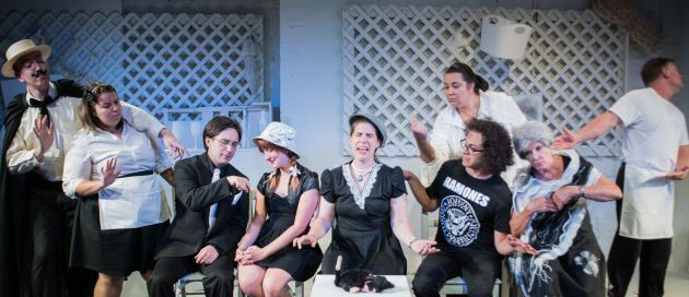 "The cast of ""Rhinoceros."" Photo / Evan Kondilas"