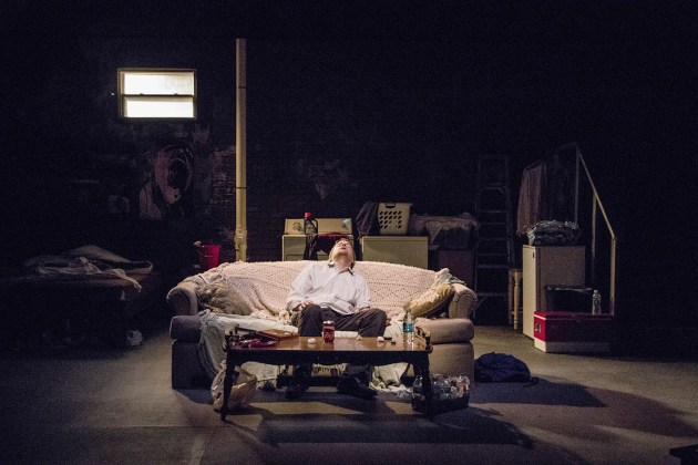 "Christopher Bohan in Greg Vovos' ""How to be a Respectable Junkie"" at Dobama Theatre. Photo by Steve Wagner"