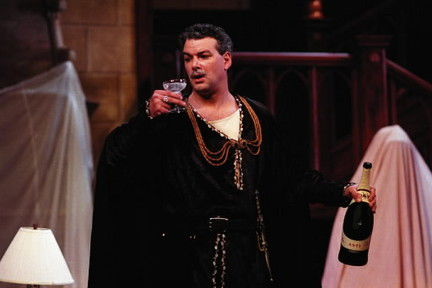 "Andrew May as Barrymore's Ghost in the 2001 production of ""I Hate Hamlet"" at Cleveland Play House. Photo / Courtesy of the Cleveland Play House"