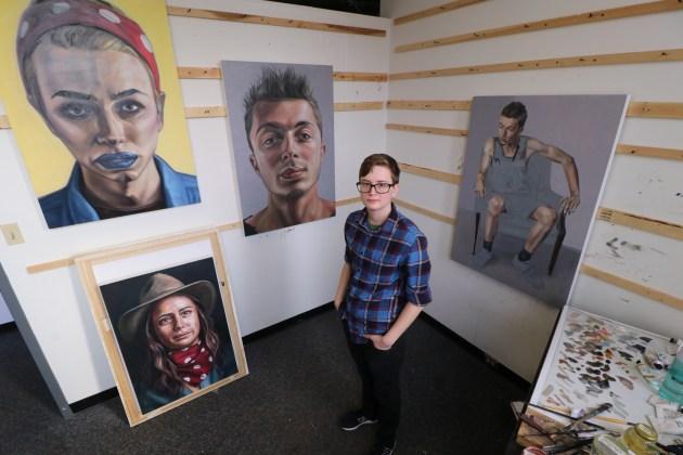 Melissa Markwald in her Akron studio.
