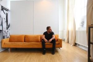 Matthew Sweeney inside his third-floor studio at 78th Street Studios in Cleveland's Detroit-Shoreway neighborhood.