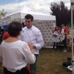 Chef Chris Coombs being interviewed