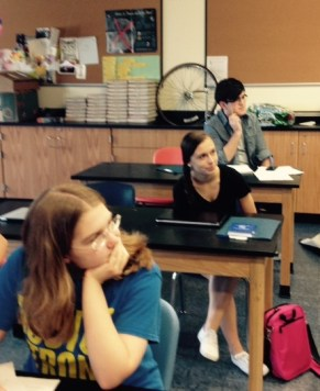 Young Writers (front to back Cassandra Schifman, Brynn Pitt, Nicholas Gagliaridi) (7)
