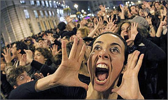 Protesto perante as desigualdades sociais