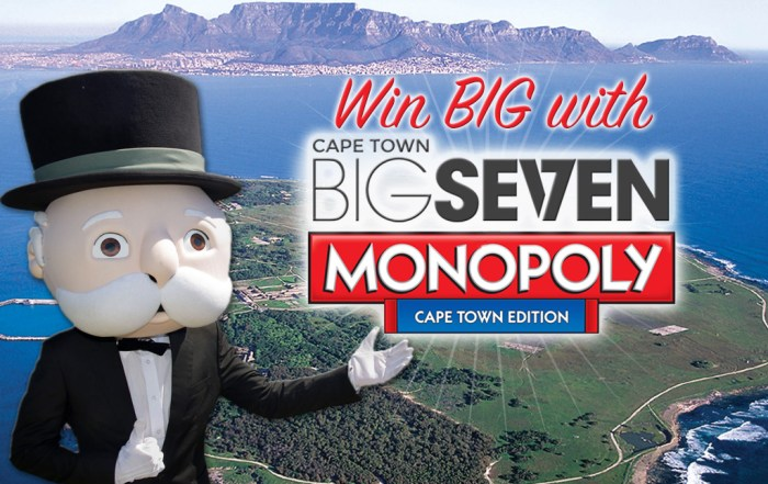 Win BIG with Cape Town Big 7 and Monopoly Cape Town!