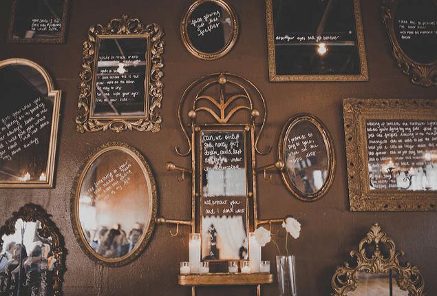 Cape Town Wedding Mirror Writing