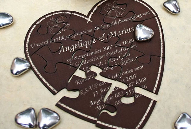 Cape Town Wedding Invites Puzzle
