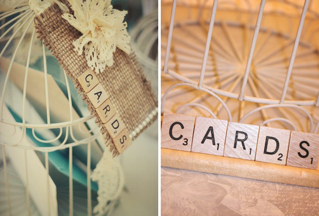 Cape Town Wedding - Scrabble Card Table
