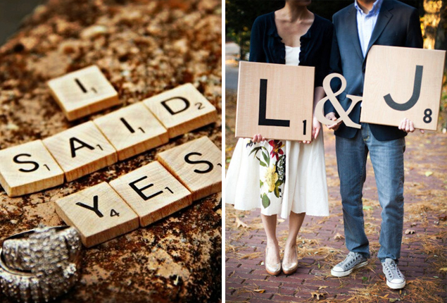 Cape Town Wedding - Scrabble Engagement Photo