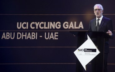 Brian Cookson during the UCI cycling gala at Abu Dhabi Du Forum. Abu Dhabi, UAE, 11 ​Octobr​ 2015.​ ANSA/​​ANGELO CARCONI - CLAUDIO PERI