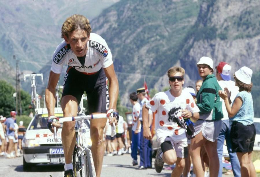 16/7/1989 Tour de France 1989. Stage 15 - Gap to Orcieres Merlette. Steven Rooks. Photo: Offside / L'Equipe.