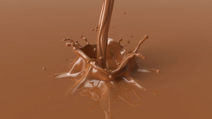 brown chocolate splash with a beautiful crown.