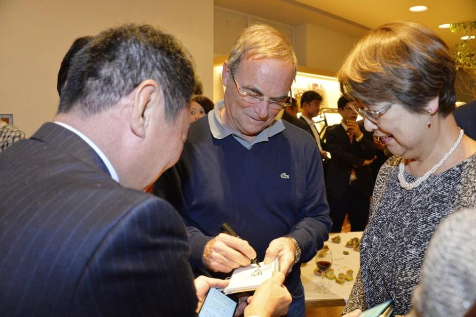 Le Tour de France Saitama Criterium - 27/10/2016 - Réception CCI France - Café OVE - Tokyo - Japon - Bernard Hinault