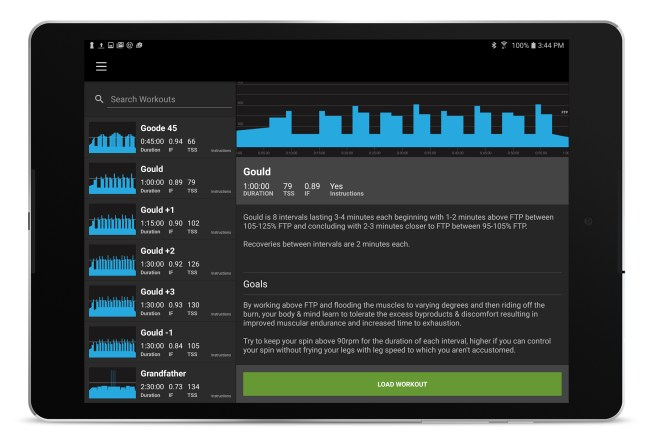 trainerroad-android-screen-tablet-workout-list