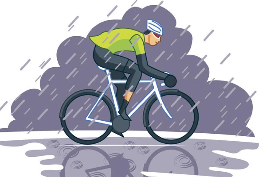 19 ride in the rain