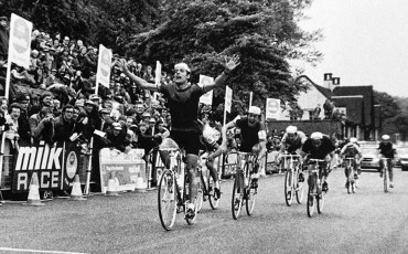 In this photo provided by PhotoSport International shows 1971 Milk Race Nottingham 1st PHIL EDWARDS GBr and 2nd PHIL BAYTON GBr. 1	[GBR] 	Phil Edwards 	 	GBR	in  03h 41m 48s 2	[GBR] 	Phil Bayton 	 	GBR	at 01s 3	[TCH] 	Jan Smolík 	 	TCH	at 01s 4	[FRA] 	Marcel Duchemin 	 	FRA	at 01s