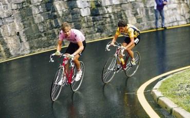 Giro D'Italia, foto Cor Vos ©1988 Andy Hampsten en Guipponi