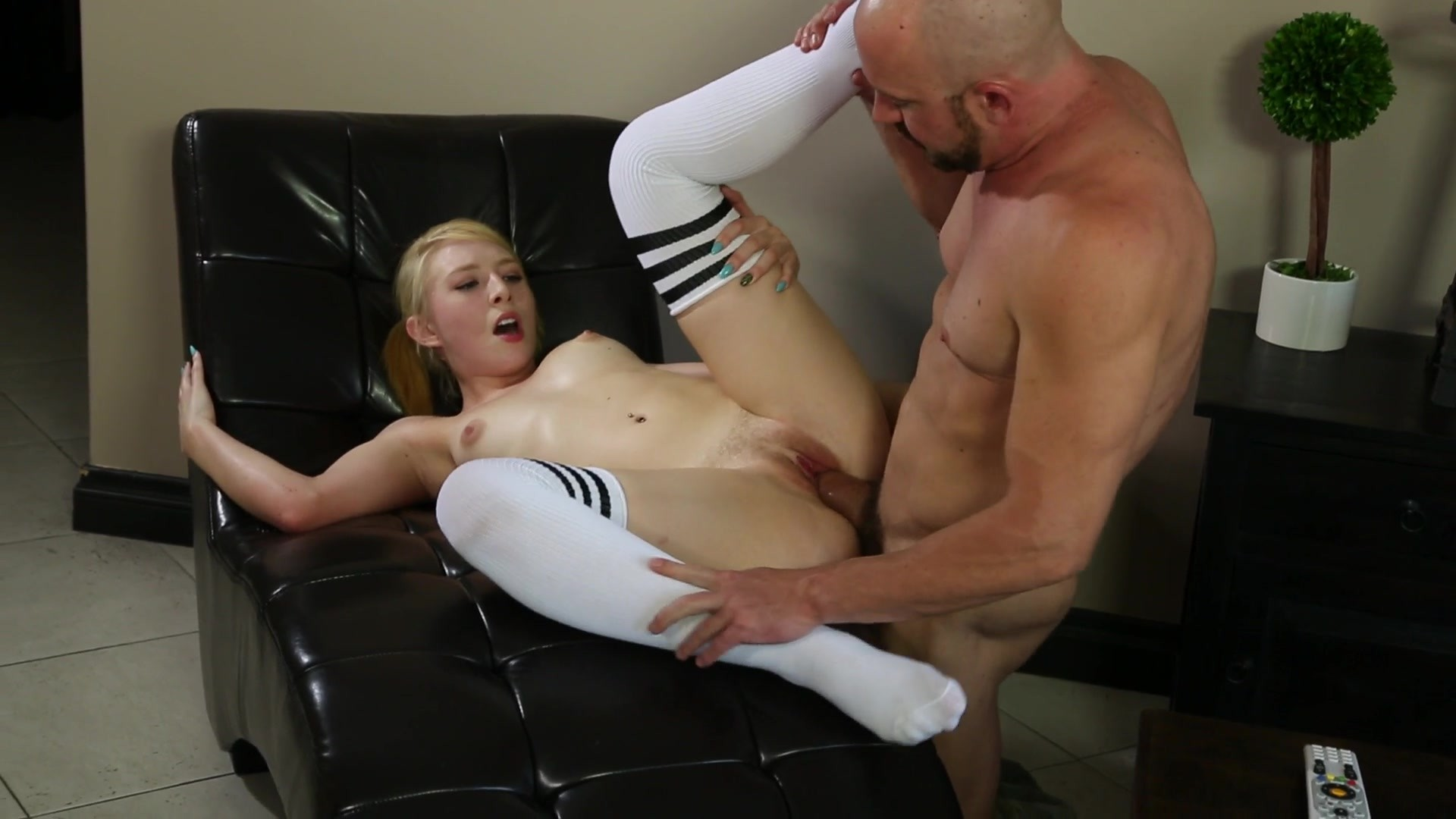 Gorgeous Blonde Babe Gets Fucked by an Older Man with a Big Cock Starring: Trillium