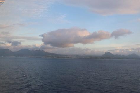 Taken as the sun set over the island.