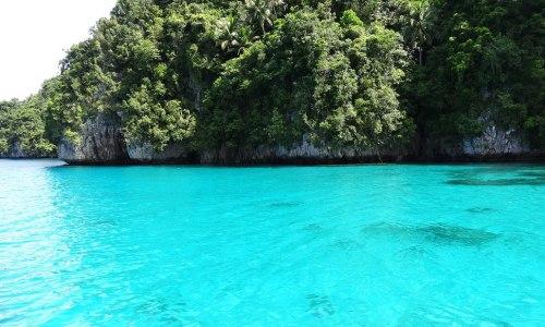 Dreamlike Turquoise-Colored Water of Kabakongan Cove, Basilisa, Dinagat Islands
