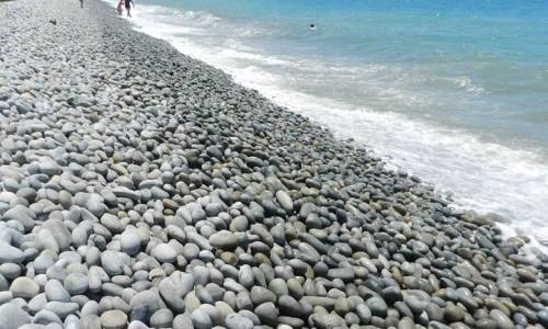 Unique Beach in the Philippines the Mabua Pebble Beach, Surigao City