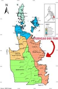 surigao de lsur map