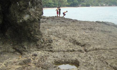 Exciting Rocky Shoreline Pop-Up During Low Tide at Bolihon Beach, Carmen, Agusan del Norte