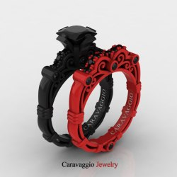 Small Of Black Wedding Rings