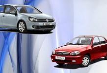 Подержанный Volkswagen Golf против нового ЗАЗ «Ланос»