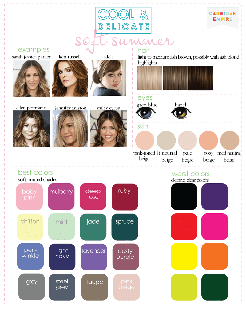 Color Analysis: 3 Degrees of Cool & Delicate