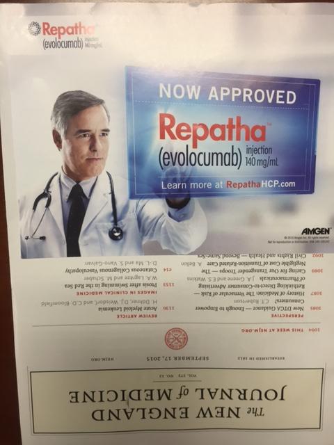 Repatha Ad NEJM cover