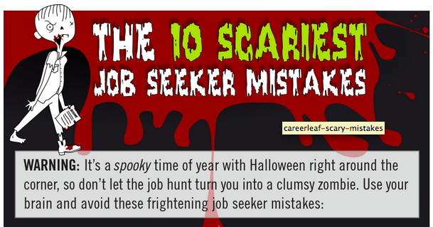 [Infographic] The 10 Scariest Job Seeker Mistakes