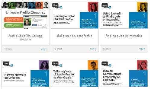 LinkedIN student resources