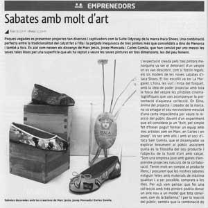 «Sabates amb molt d'art»