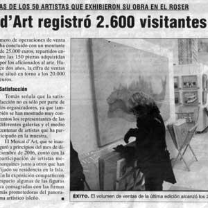 «El Mercat d'Art registró 2.600 visitantes»