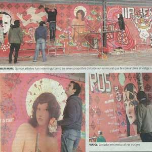 «El mur que parla d'art als viatgers»