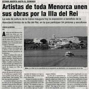 «Artistas de dosa Menorca unen sus obras por la Illa del Rei»