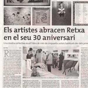 «Els artistes abracen Retxa en el seu 30 aniversari»